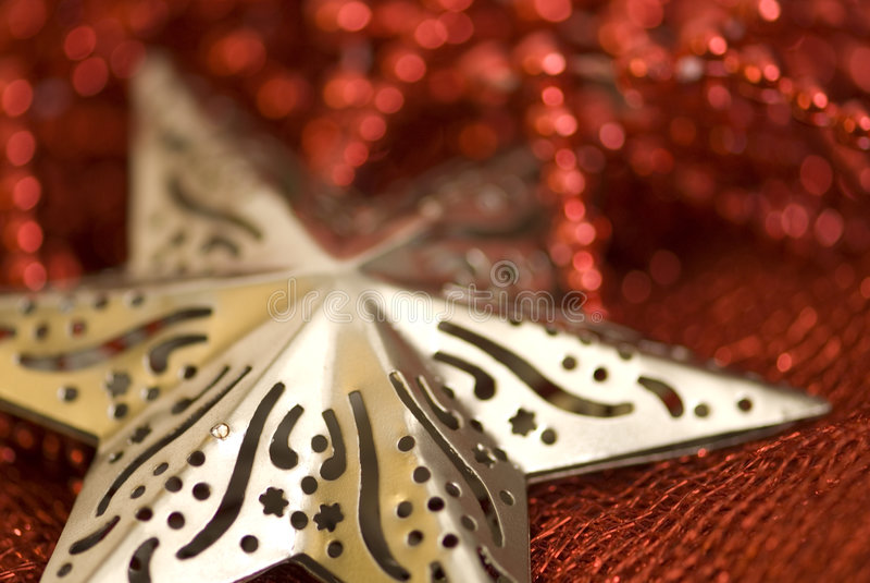Forme d'étoile de Noël photos libres de droits