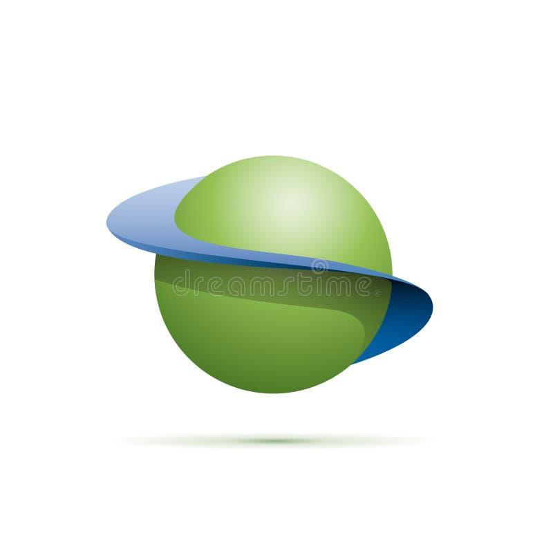 Forme d'abrégé sur signe de vecteur de sphère illustration libre de droits