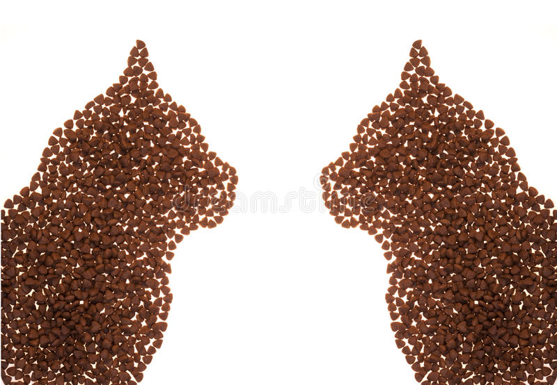 Forme d'aliments pour chats images stock