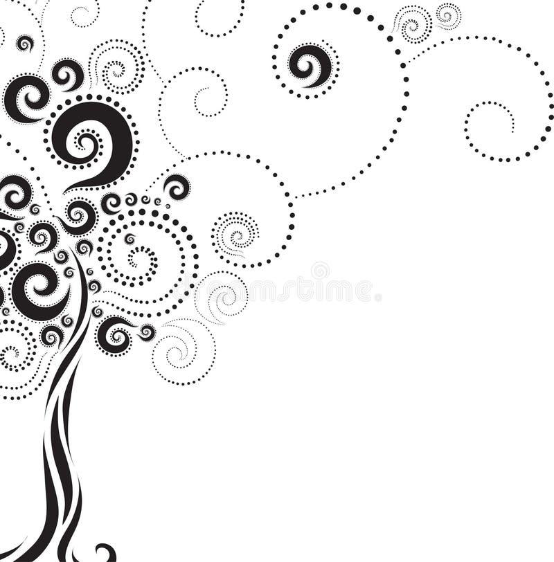 Forme d'arbre des pirouettes illustration stock