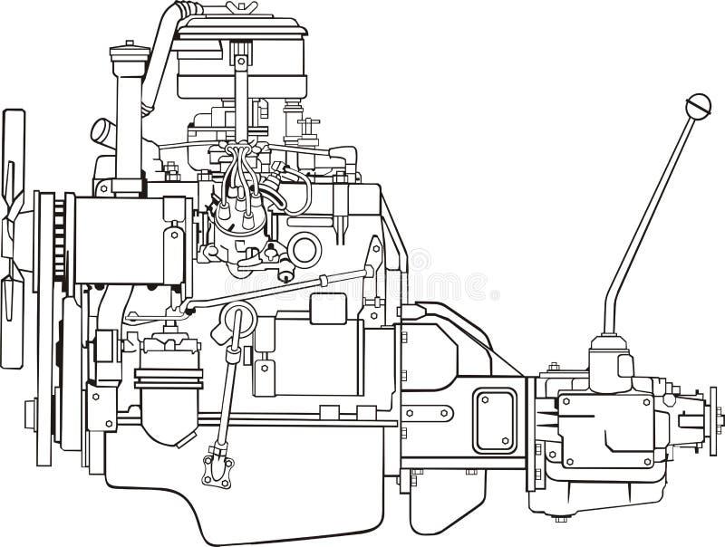Forme d'engine illustration stock