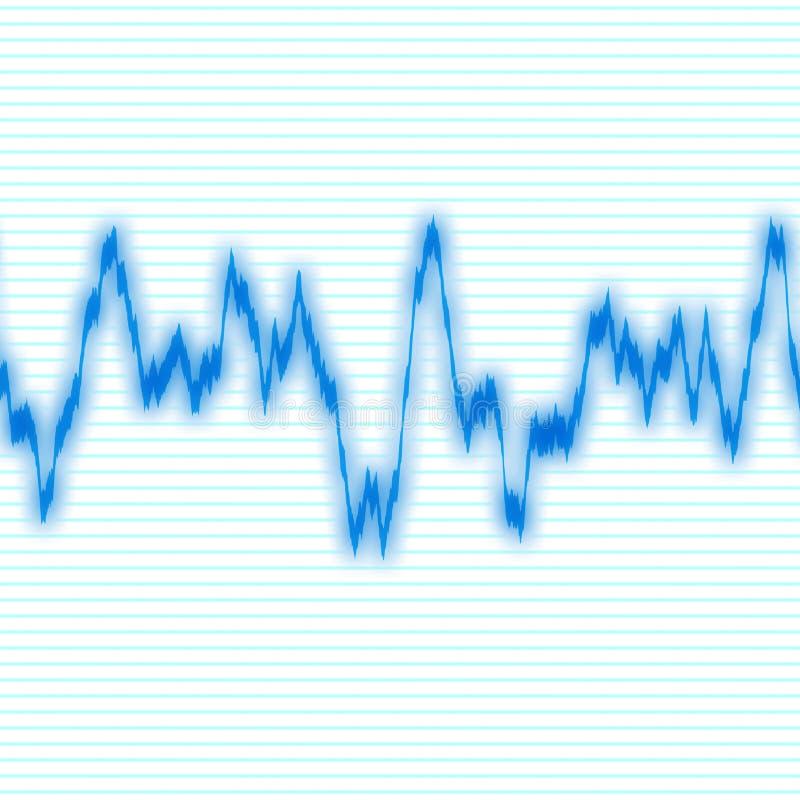 Forme d'onde bleue illustration stock