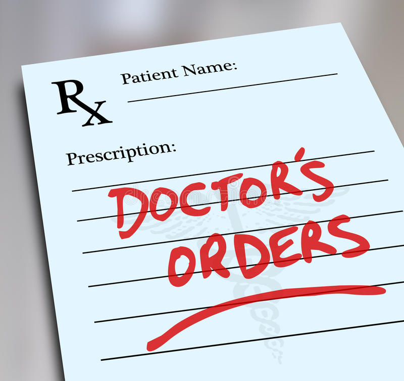 Forme d'Orders Prescription Medicine Healthcare de docteur illustration de vecteur