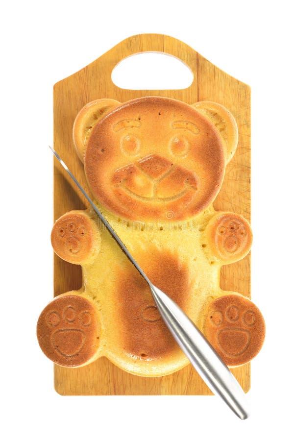 Forme d'ours de petit gâteau photographie stock