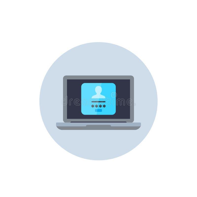 Forme d'ouverture, icône d'authentification illustration libre de droits