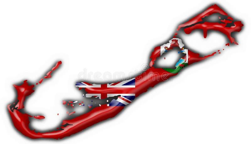 Forme de carte d'indicateur de bouton des Bermudes illustration libre de droits