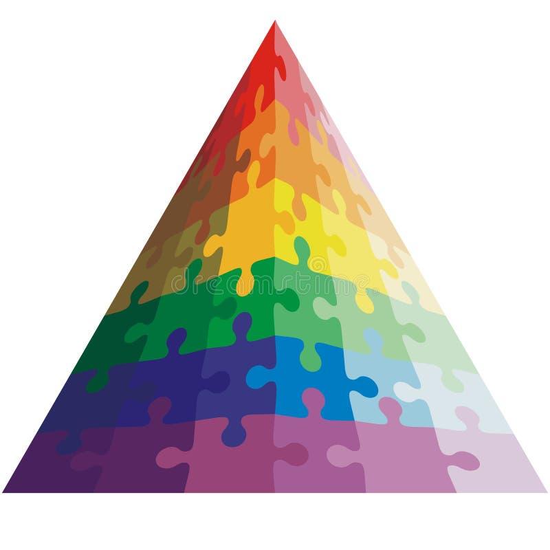 Forme de casse-tête d'une triangle, couleurs illustration libre de droits