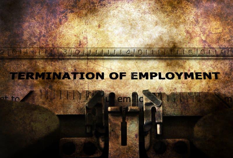 Forme de cessation d'emploi sur la machine à écrire illustration libre de droits
