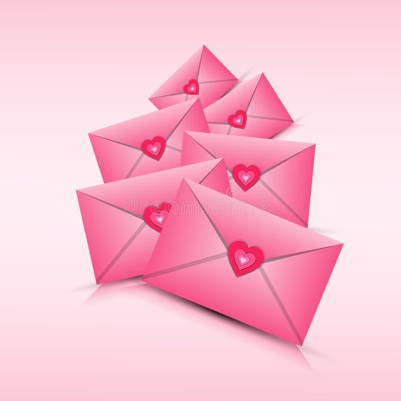 Forme de coeur d'amour de Valentine Day Gift Card Holiday illustration stock