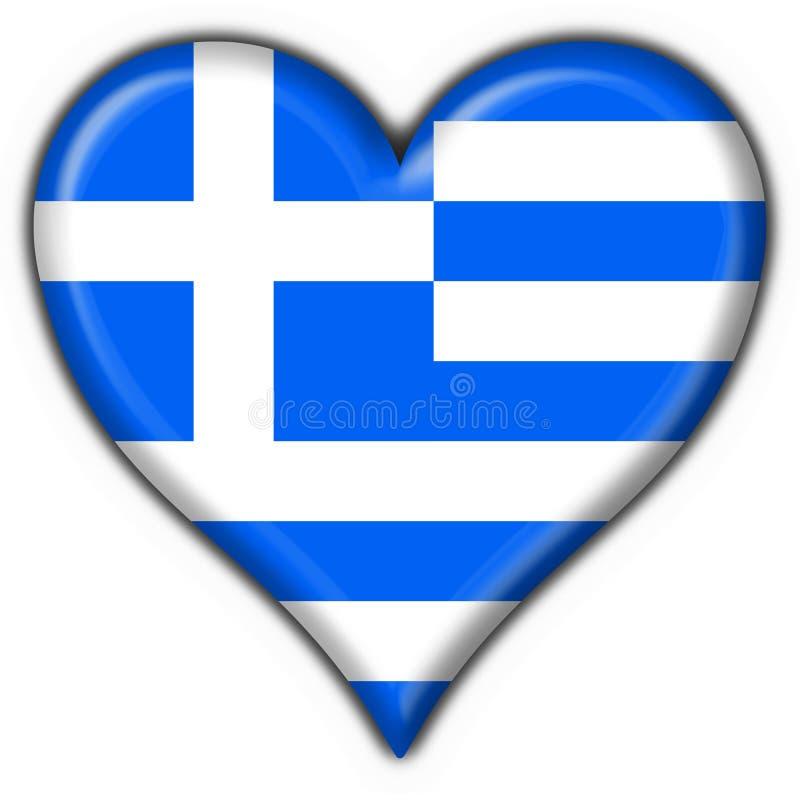 Forme de coeur d'indicateur de bouton de la Grèce illustration de vecteur