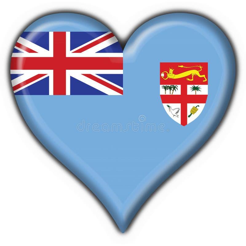 Forme de coeur d'indicateur de bouton du Fiji illustration stock