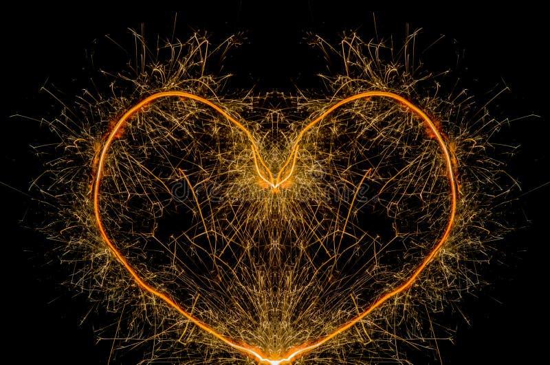 Forme de coeur de cierge magique images libres de droits