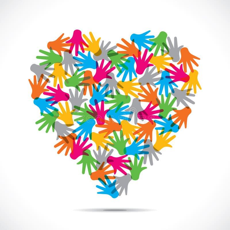 Forme de coeur de couleur illustration libre de droits