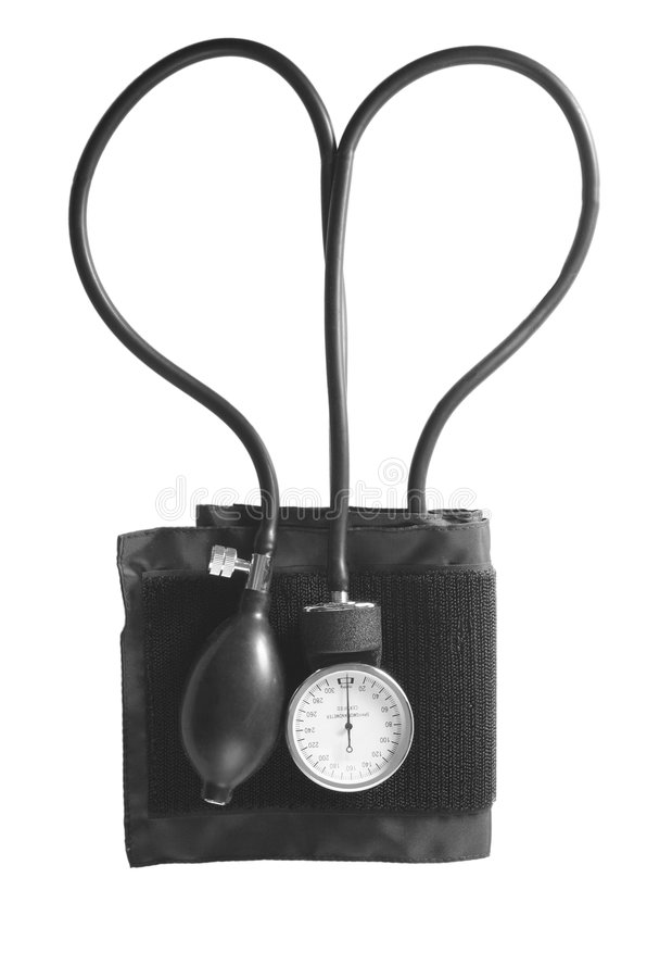 Forme de coeur de Sphygmomanometer photo libre de droits