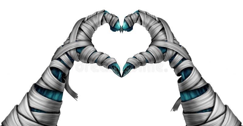 Forme de coeur de main de maman illustration de vecteur