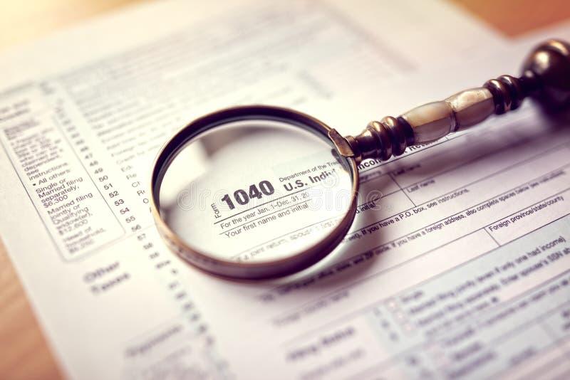 Forme de déclaration d'impôt sur le revenu image libre de droits