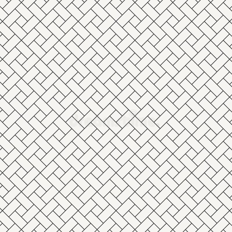Forme de diamant de place de conception de modèle de vecteur la répétition avec la pente de blanc bloque le carrelage Briques de  illustration de vecteur