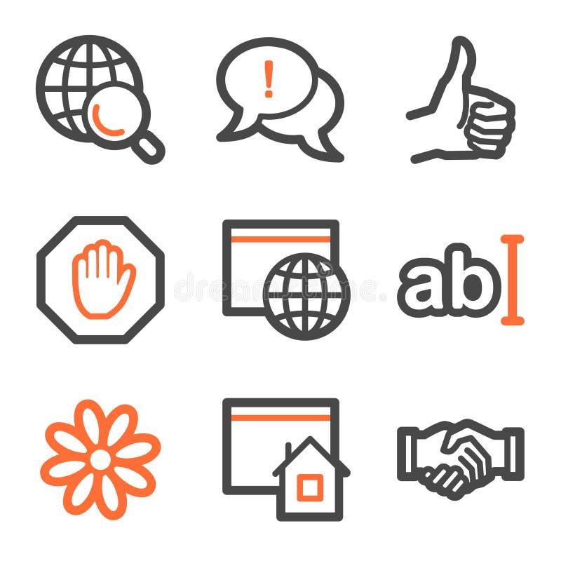 Forme de graphismes de Web d'Internet, orange et grise illustration stock