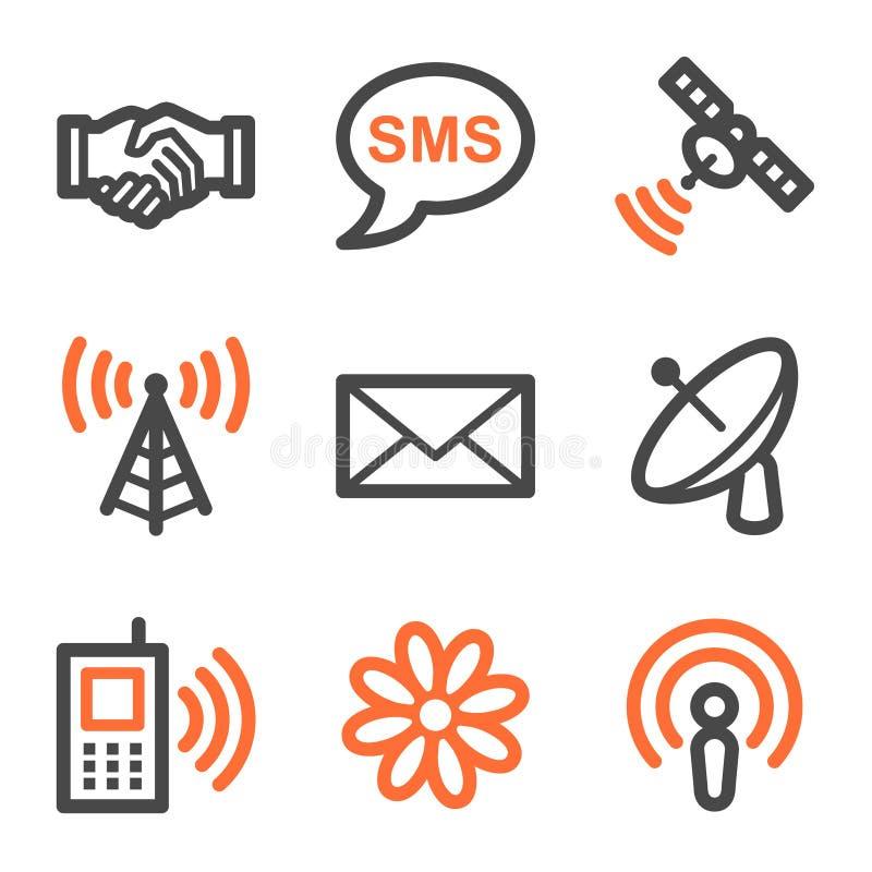 Forme de graphismes de Web de transmission, orange et grise s illustration libre de droits