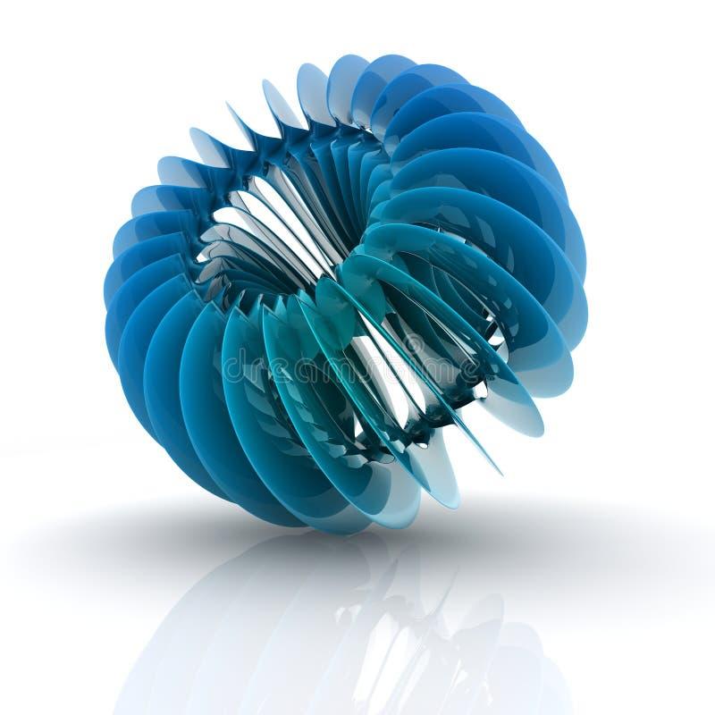 forme de l'hélice 3D illustration de vecteur