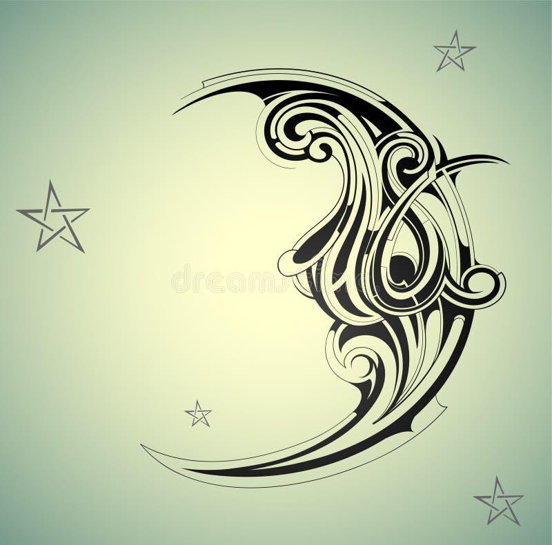 Forme de lune illustration stock