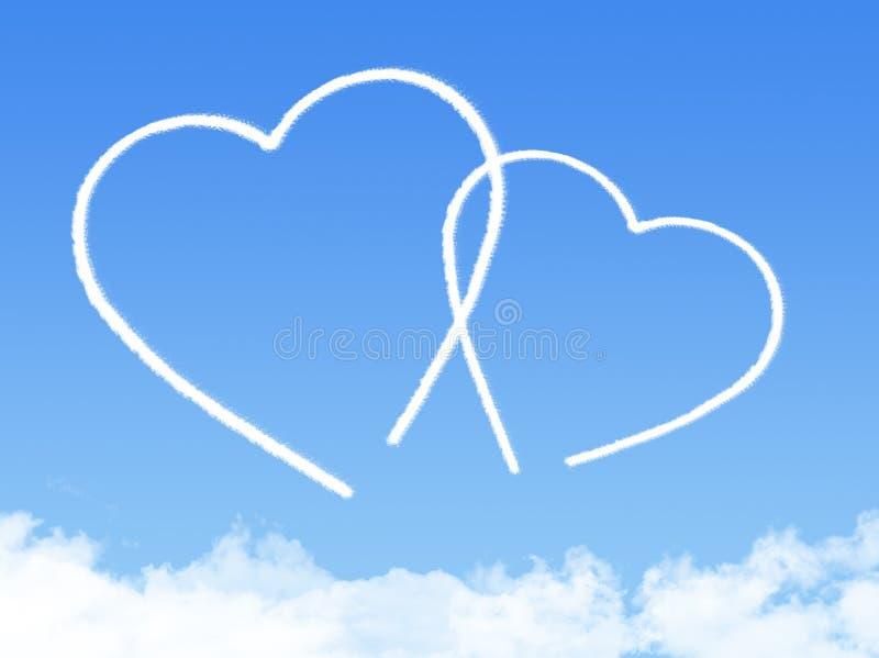 Forme de nuage de coeur illustration libre de droits