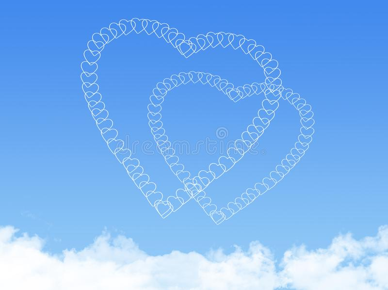 Forme de nuage de coeur illustration de vecteur