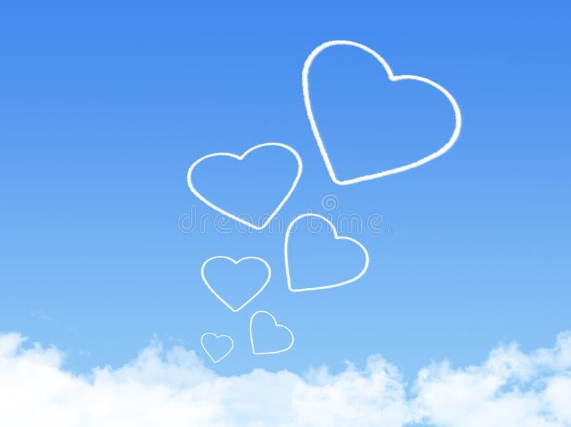 Forme de nuage de coeur illustration stock