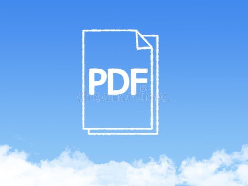Forme de nuage de document sur papier de bloc-notes image stock