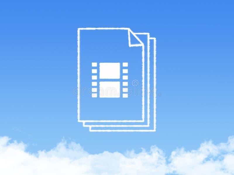 Forme de nuage de document sur papier de bloc-notes photo stock