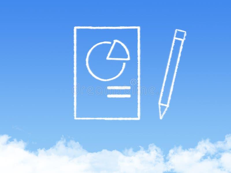 Forme de nuage de document sur papier de bloc-notes photos stock