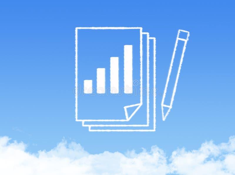 Forme de nuage de document sur papier de bloc-notes photographie stock