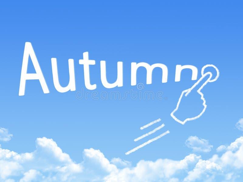 Forme de nuage de message d'automne illustration libre de droits