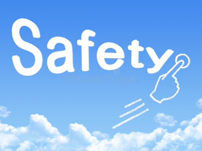 Forme de nuage de message de sécurité illustration stock