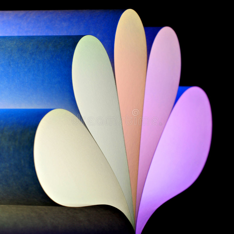 Forme de papier en pastel 1 photo libre de droits
