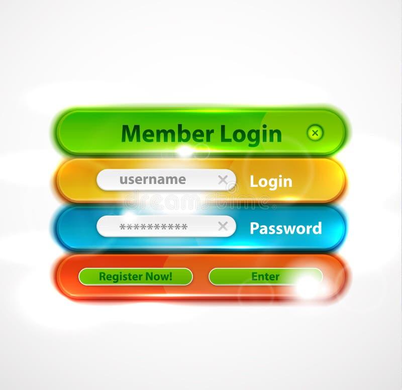 Forme de procédure de connexion de Web de vecteur illustration libre de droits