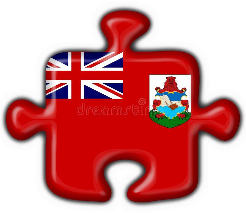 Forme de puzzle d'indicateur de bouton des Bermudes illustration stock