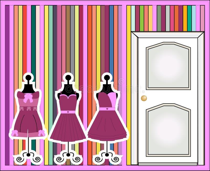 Forme de robe illustration stock