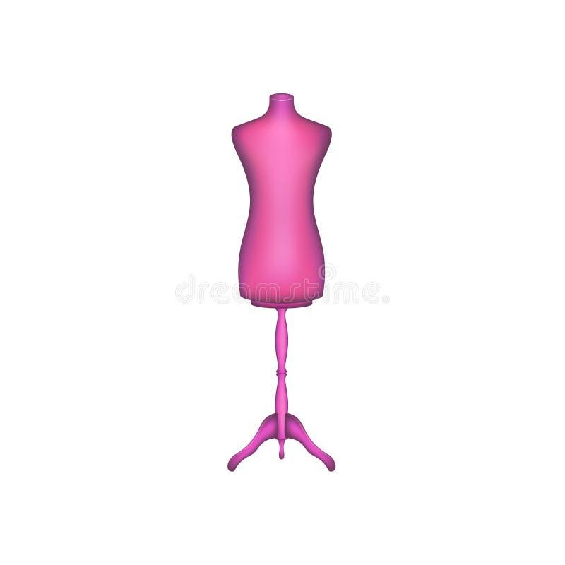 Forme de robe de vintage dans la conception rose illustration libre de droits