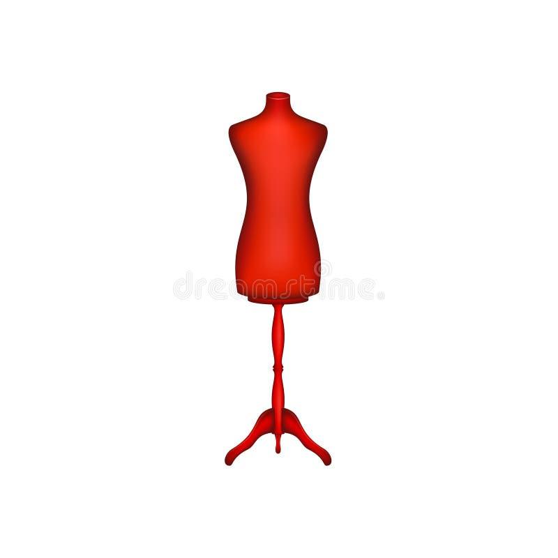 Forme de robe de vintage dans la conception rouge illustration de vecteur
