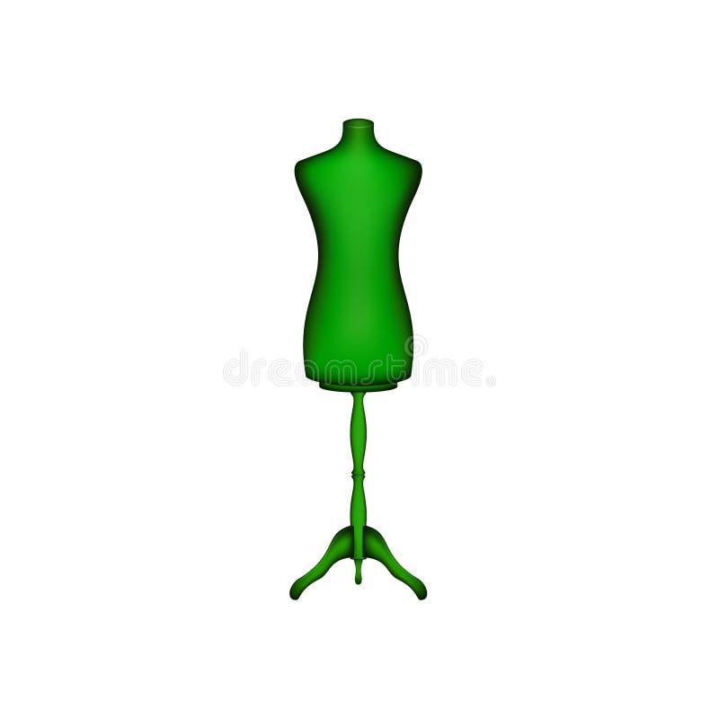 Forme de robe de vintage dans la conception verte illustration de vecteur