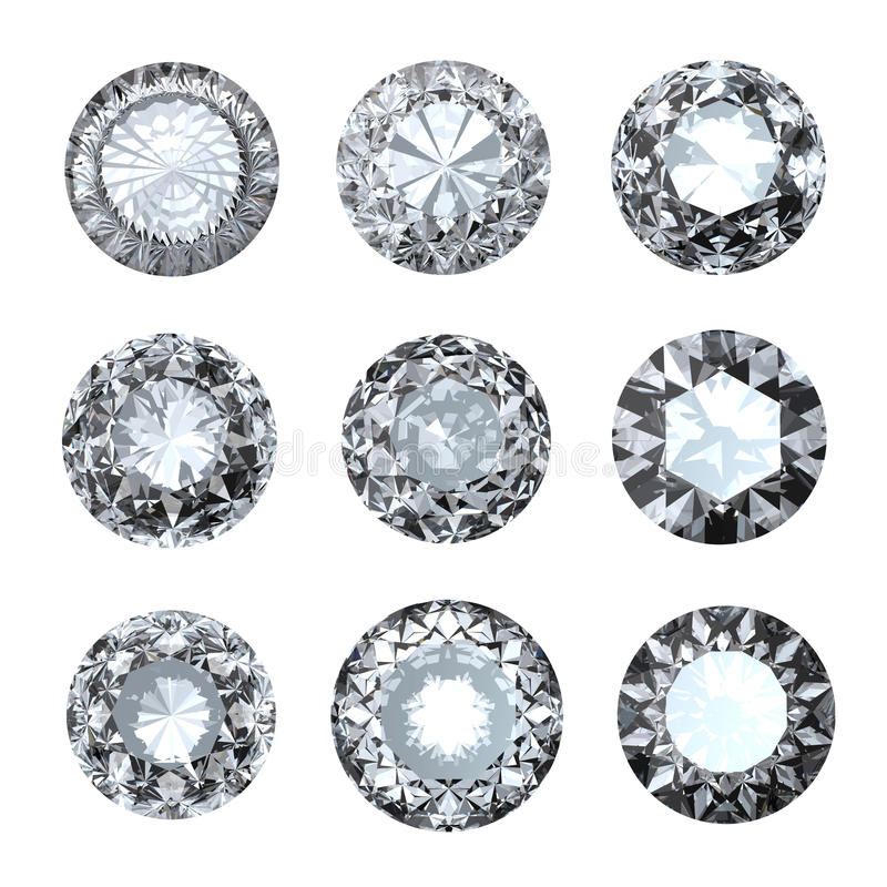 Forme de roung de gemmes de bijou illustration libre de droits