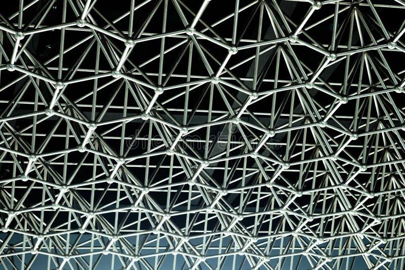 Forme de ruche faite en connexion matal images stock