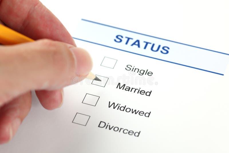 Forme de situation de famille (forme d'état civil) image libre de droits