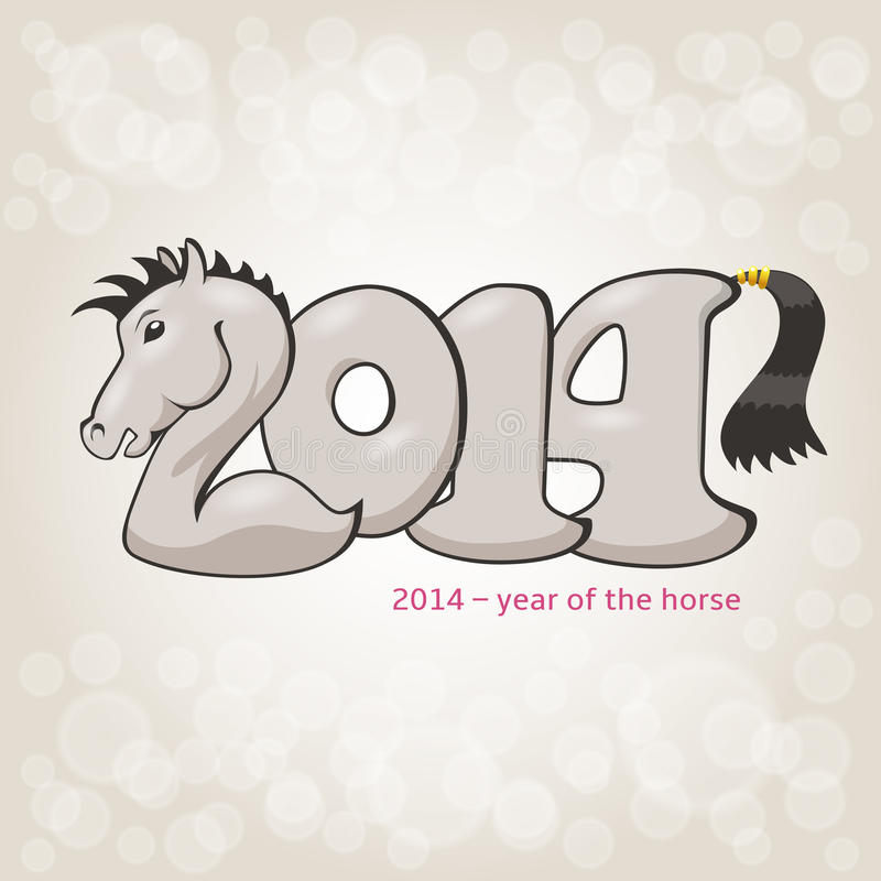 Forme de stylization de cheval en 2014 illustration stock