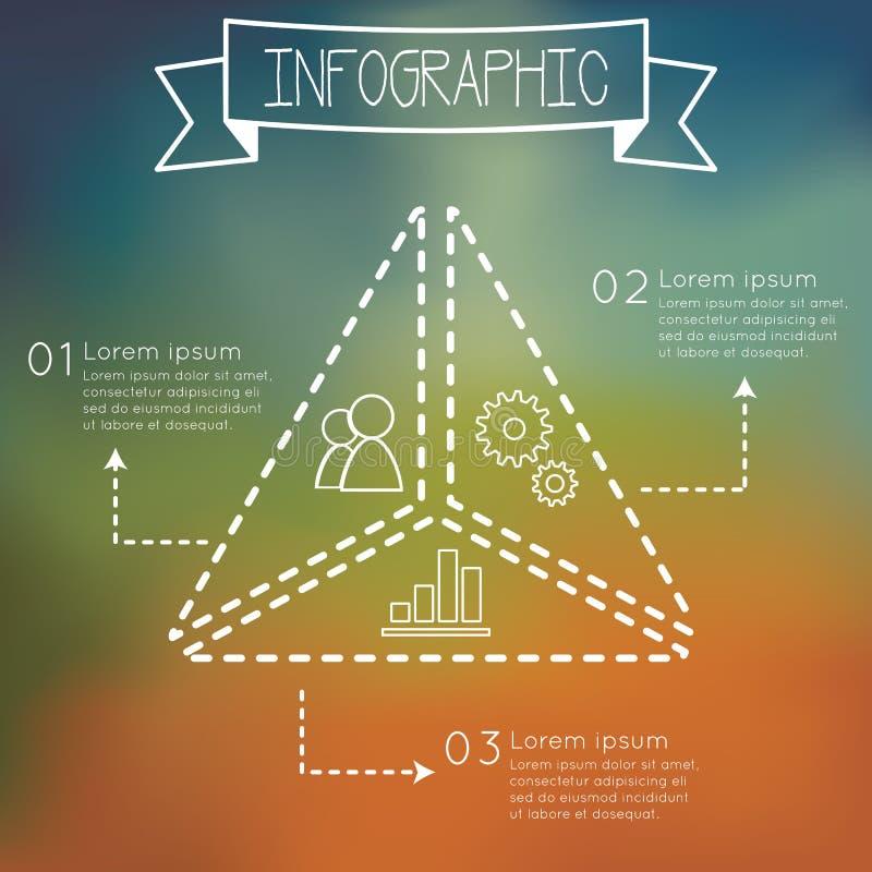 Forme de triangle d'Infographic illustration stock