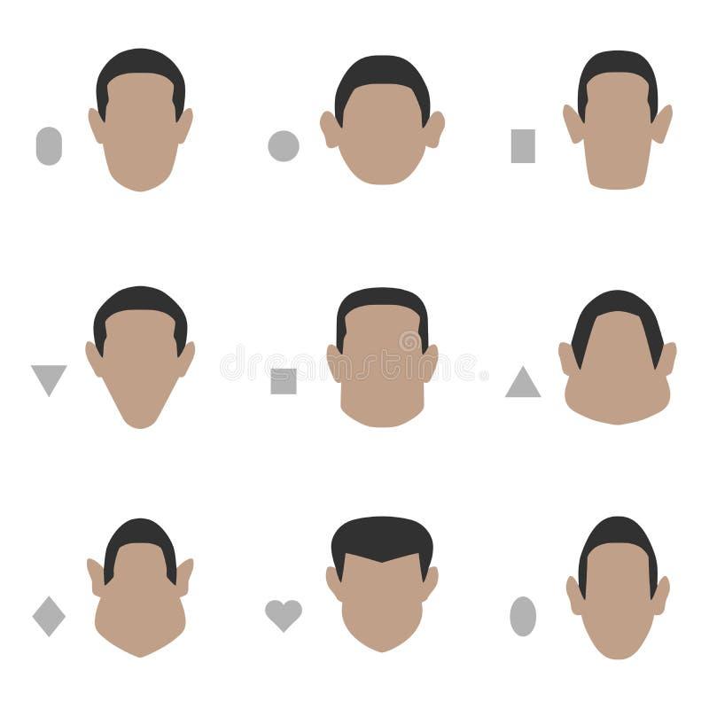 forme de visage, illustration libre de droits