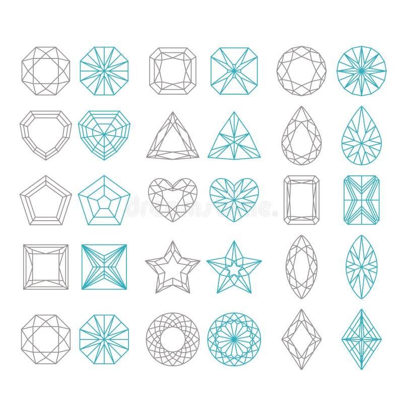 Forme del diamante fissate royalty illustrazione gratis
