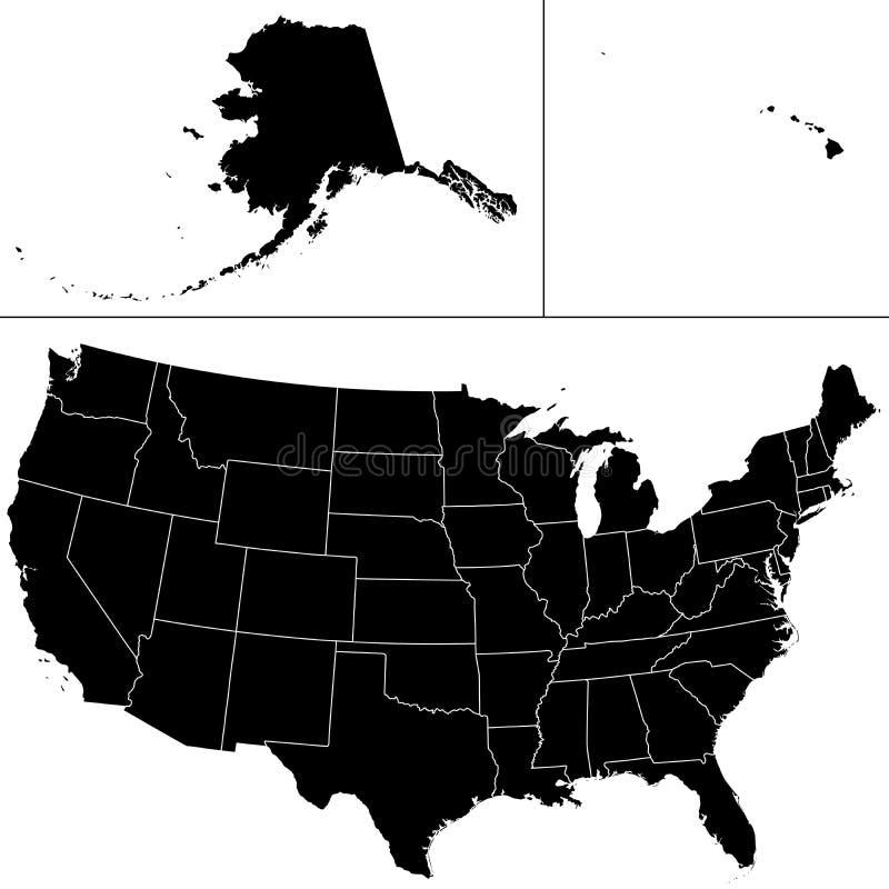 Forme Des Etats-Unis Photographie stock