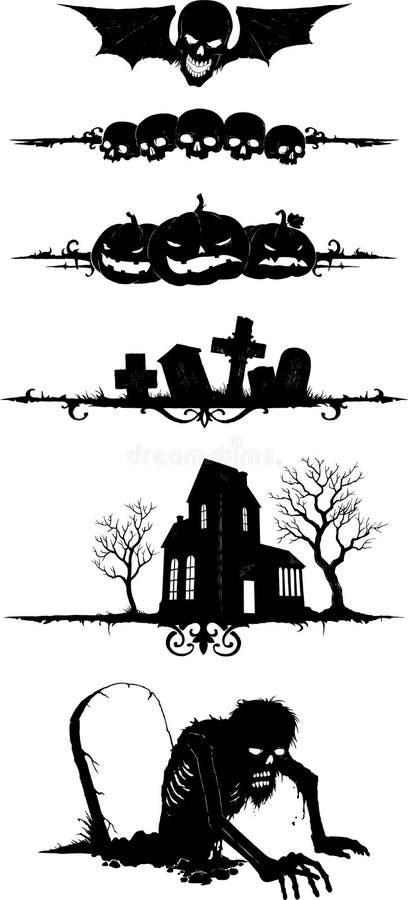 Forme di Halloween royalty illustrazione gratis